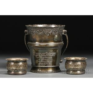 Three Silver Plate Wine-related Tableware Items