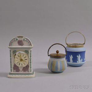 Three Wedgwood Tricolor Jasper Items