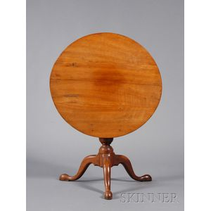 Chippendale Cherry Tilt-top Tea Table