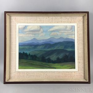 Attributed to Edwin B. Sears (American, 20th Century)       Summer Mountain Landscape.