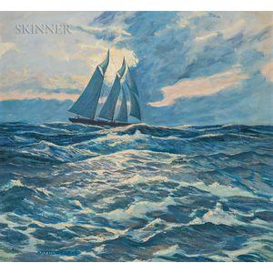 Arthur C. Knapp (American, 20th Century)      Schooner