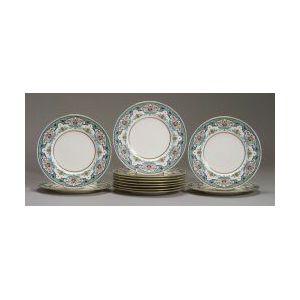 Set of Twelve Minton Porcelain Service Plates