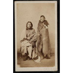 Carte de Visite of Two Pawnee Braves