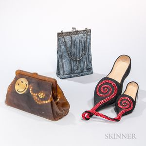 Two Judith Haberl Handbag Sculptures and a Shoe Sculpture