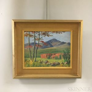 Two Framed Edwin B. Sears (American, 20th Century) Oil Landscapes