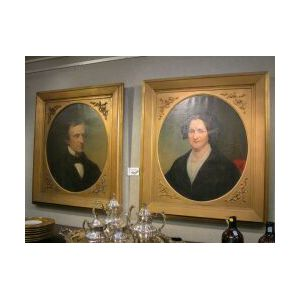 Pair of Oil Portraits of Charles William Nassau and Hannah Hamill Nassau