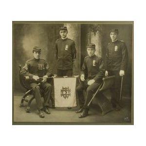 Portrait Photograph of Four Boston Cadets