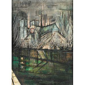 Regis de Bouvier De Cachard (French, b. 1929)      Notre Dame Across the Seine