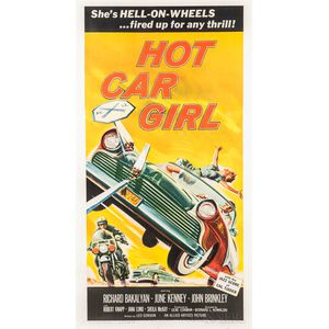 """Hot Car Girl"" Three Sheet Movie Poster"
