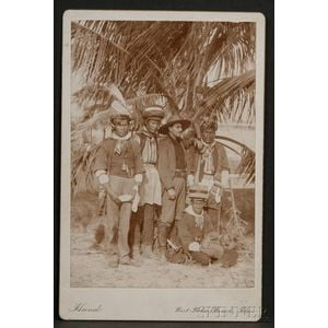 Cabinet Card of Seminole Indians