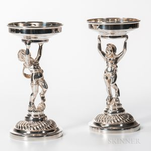 Pair of Elizabeth II Sterling Silver Tazzas