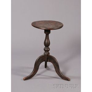 Grain-painted Tripod-base Candlestand