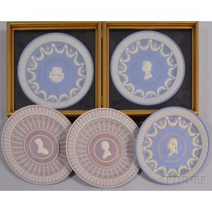 Six Wedgwood Three- and Four-color Plates