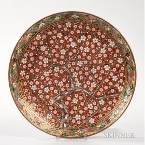 Polychrome Enameled Charger