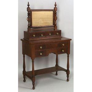 Classical Mahogany and Mahogany Veneer Dressing Bureau