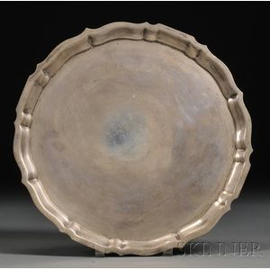 "Gorham Sterling ""Chippendale"" Pattern Circular Tray"