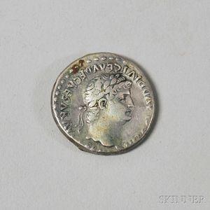 Ancient Roman Empire Silver Didrachm Coin
