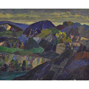 Leighton Cram (American, 1895-1981)      Landscape