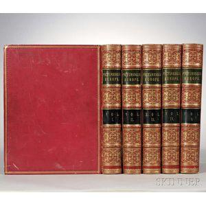 Decorative Bindings, Sets: Taylor, Bayard (1825-1878) Picturesque Europe.