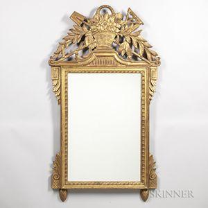 Louis XVI-style Giltwood Mirror