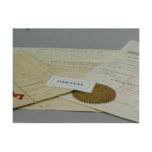 Group of American Partially Printed Deeds, Land Grants and Certificates