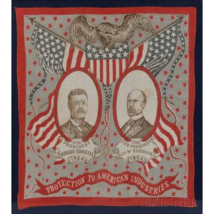 Framed Printed Cotton Roosevelt/Fairbanks Campaign Bandana