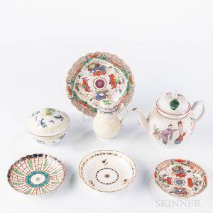 Group of Worcester Porcelain Teaware