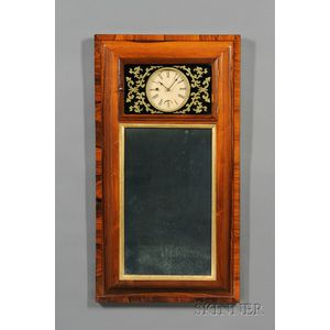Rosewood Looking Glass Clock by George Hills