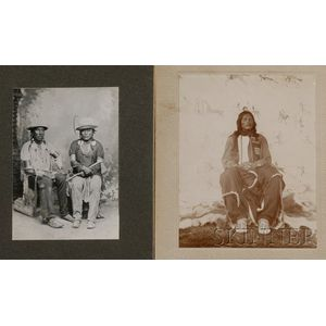 Two Photographs of Warriors