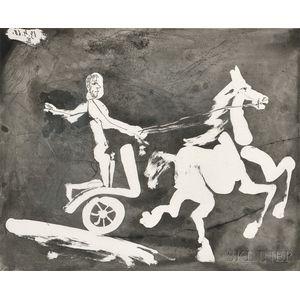 Pablo Picasso (Spanish, 1881-1973)      Télévision - Course de chars à l