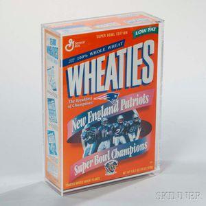 """New England Patriots Super Bowl XXXI Champions"" Wheaties Box"