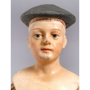 Papier-Maché Molded Shoulder Head Man
