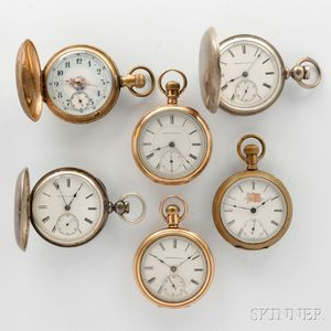 Six American Pocket Watches