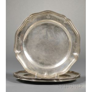 Four Italian Sterling Plates