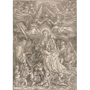Albrecht Dürer (German, 1471-1528)      The Virgin Surrounded by Many Angels