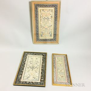 Three Frames with Embroidered Sleeve Bands