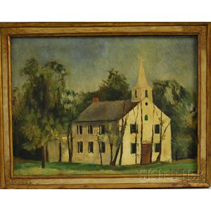 Martha Mignonne Ryther (American, 1896-1981)      White Church, Possibly Cape Cod