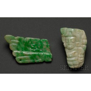 Two Pre-Columbian Carved Jades