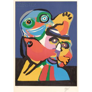 Karel Appel (Dutch, 1921-2006)      Untitled (Two Figures)