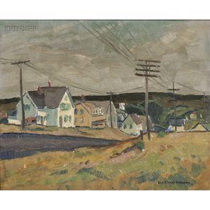George Elmer Browne (American, 1871-1946)      New England Village
