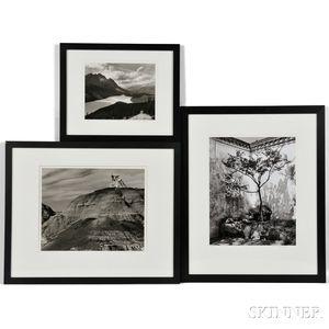 Bill Lubow (American, 20th Century)      Three Framed Gelatin Silver Prints:   Bisti Wilderness I