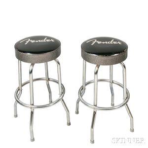 Pair of Fender Barstools