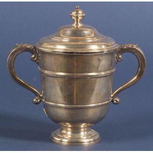 George V Britannia Standard Georgian-style Covered Loving Cup