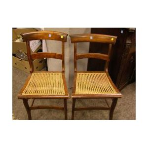 Set of Five Classical Grain Painted Side Chairs.