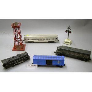Collection of Lionel Plastic Model Trains and Model Railroading Accessories.