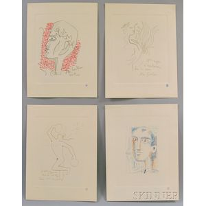 Jean Cocteau (French, 1889-1963)      Four Figural Subjects.