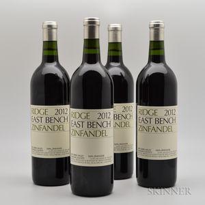 Ridge East Bench Zinfandel 2012, 4 bottles