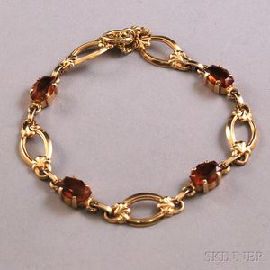 Tiffany & Co. 14kt Gold and Citrine Bracelet