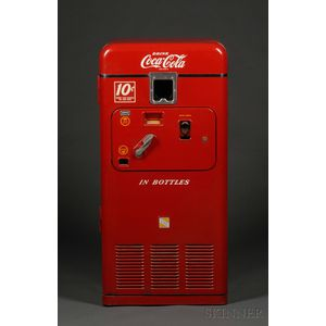 Coca-Cola 10-Cent Coin-op Bottle Vending Machine