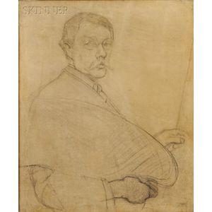 Philip Leslie Hale (American, 1865-1931)      Study for Self-Portrait